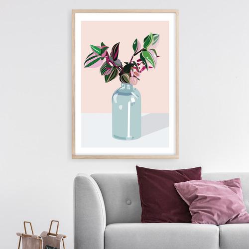 Design Mondo Tradescantia Tricolour Printed Wall Art