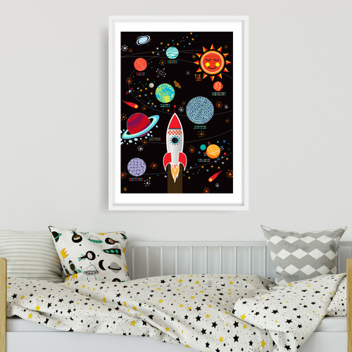Design Mondo Space Race Printed Wall Art