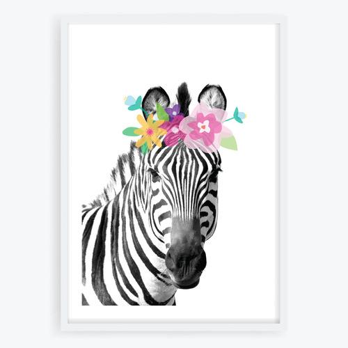 Design Mondo Zany Zebra Printed Wall Art