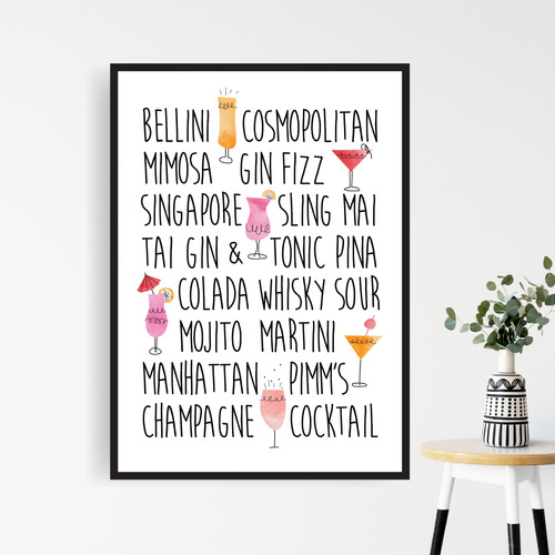 Design Mondo Cocktail Time Printed Wall Art
