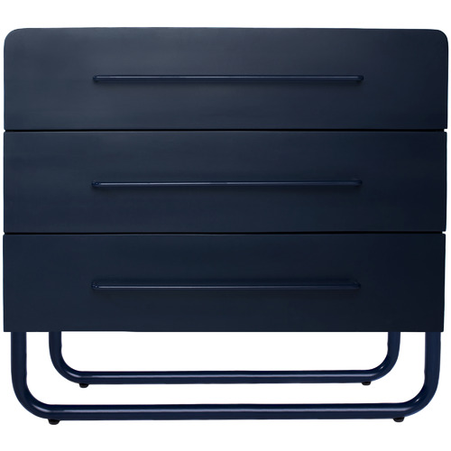 Incy Interiors Navy Albie New Zealand Pine Chest of Drawers