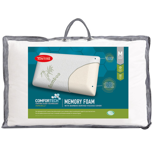 Tontine Aircell Memory Foam Pillow with Bamboo Cover