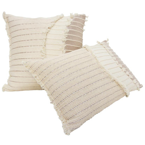 Robert Mark Cream Indah Rectangular Cotton Cushion