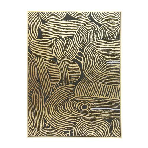 Robert Mark Kamunda Gold Framed Canvas Wall Art