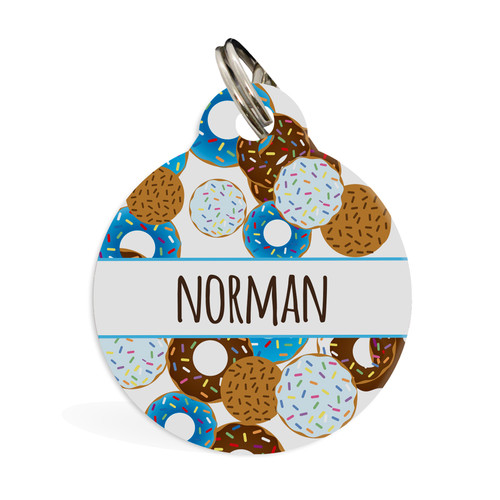 IdPet Go nuts for Donuts Blue ID Pet Tag