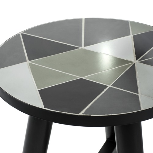 Vienna Woods Linear Pattern Side Table