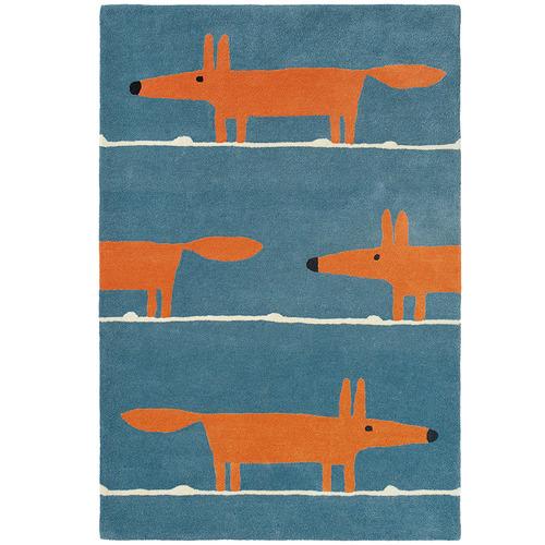 Scion Denim Fox Hand-Tufted Wool Rug