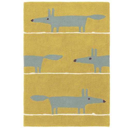 Scion Mustard Fox Hand-Tufted Wool Rug