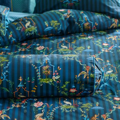 Dark Blue Singerie Roll Cotton Cushion