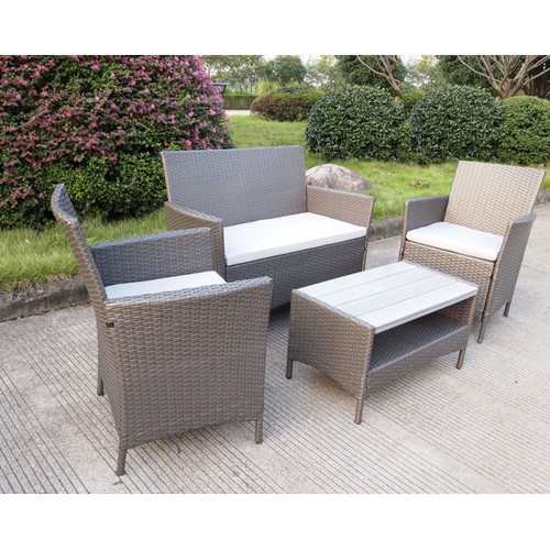 Lifestyle Direct Wholesalers 4 Seater Ravello Polywood Outdoor Sofa Set