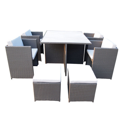 10 piece rio pe wicker outdoor dining table chair set temple