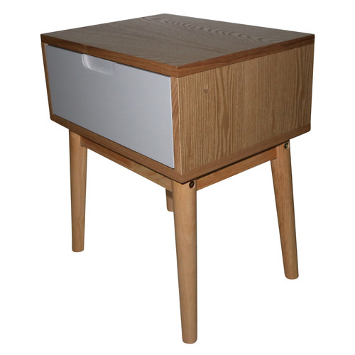 Lifestyle Direct Wholesalers Alida Scandinavian Side Table With Drawer