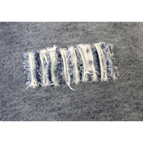 Vintage Design Distressed Denim Linen Cotton Cushion