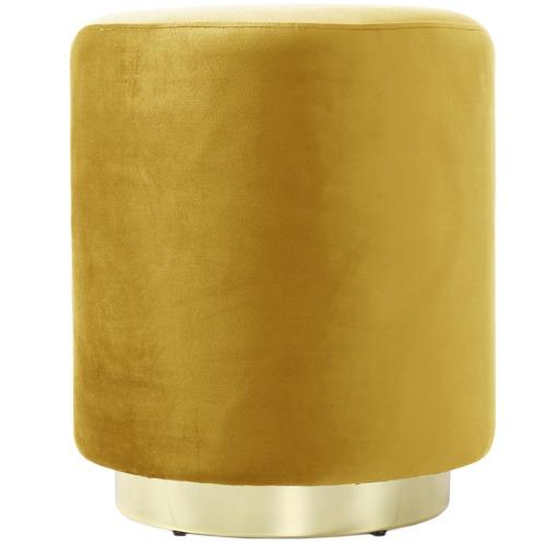 Vintage Design Round Ella Velvet Ottoman