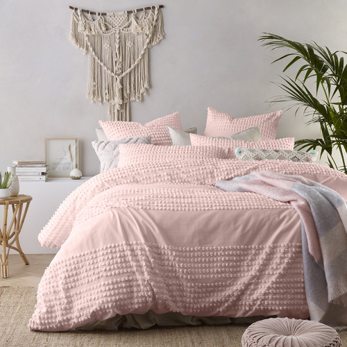 Vintage Design Blush Betty Cotton Quilt Cover Set