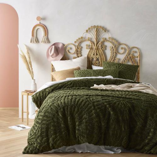 Olive Carmen Cotton Quilt Cover Set