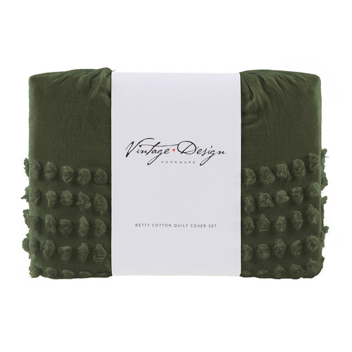 Olive Betty Cotton Quilt Cover Set