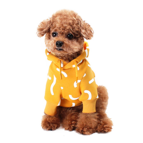 Huts and Bay Yellow Jelly Dog Hoodie