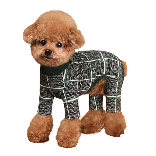 Huts and Bay Check Dog Onesie