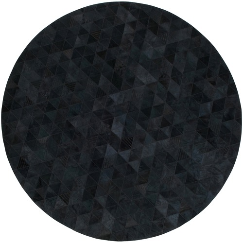 Charcoal Trilogia Round Cow Hide Rug Temple Amp Webster