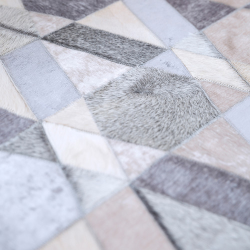 Art Hide Grey Selva Leather Rug