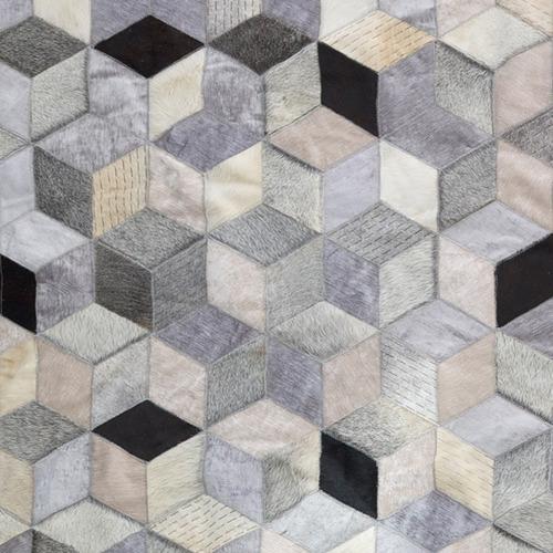 Art Hide Grey Dedalo Leather Rug