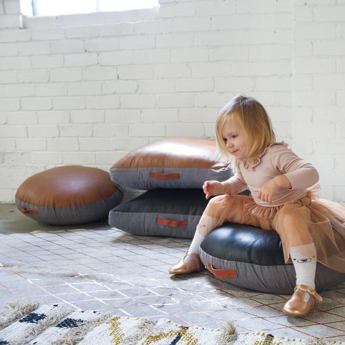 Rectangle Leather Floor Cushion