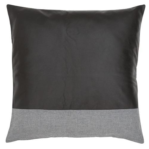 Leather & Linen Stripe Cushion
