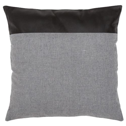 Leather & Linen Block Cushion