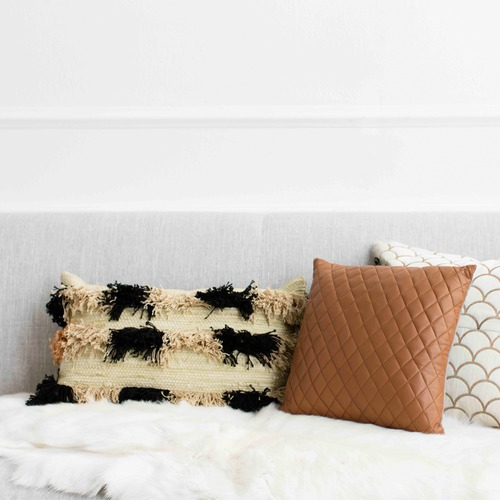 Echoes Tufted Cotton Cushion