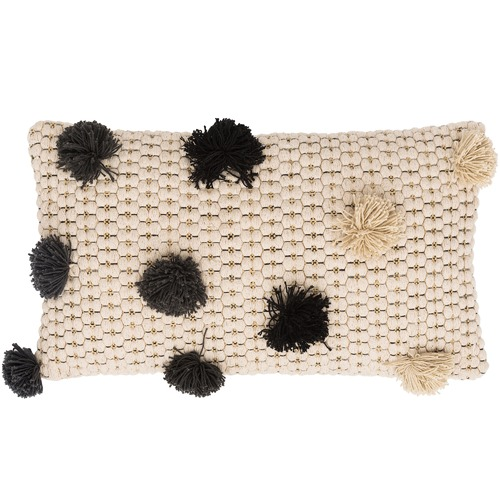 Caravana Pom Pom Cotton Cushion