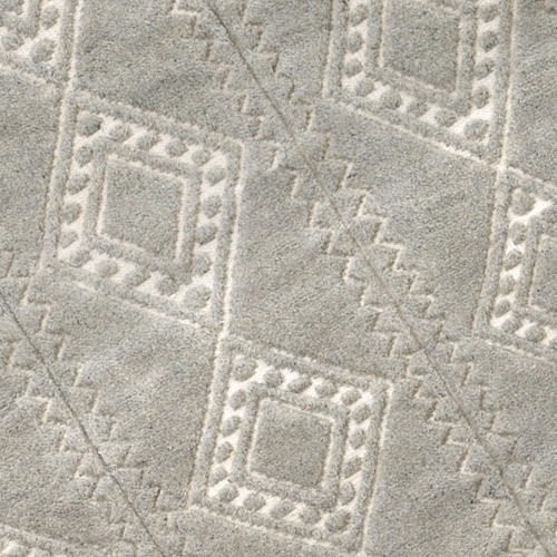 Amigos de Hoy Pewter Honeycomb Weave Wool-Blend Rug