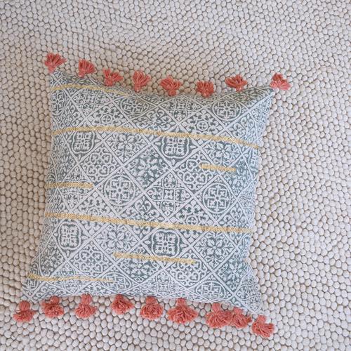 Aqua Hawkwind Cotton Cushion Cover