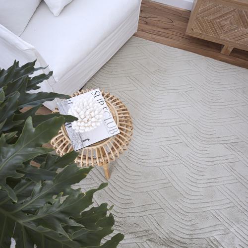 Amigos de Hoy Grey Voyage Weave Wool-Blend Rug