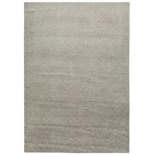 Amigos de Hoy Grey Stardust Weave Wool-Blend Rug
