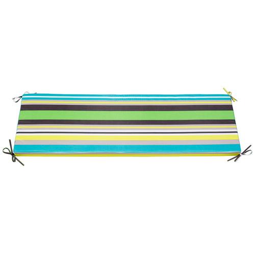 Zumo Green Multistripe Bench Outdoor Cushion