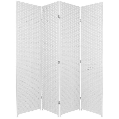 Home Storage and Living 4 Panel Woven Room Divider Screen
