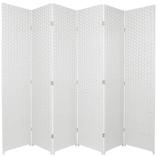 Home Storage and Living 6 Panel Woven Room Divider Screen
