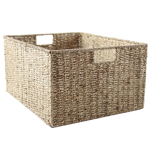 Home Storage and Living Natural Seagrass Storage Basket
