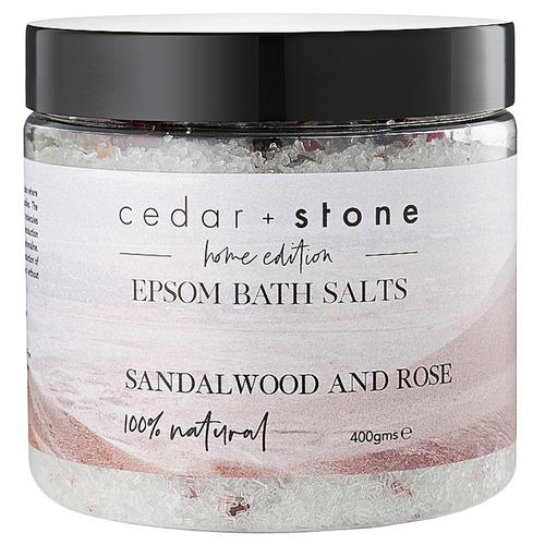 Cedar + Stone Sandalwood & Rose Epsom Bath Salts