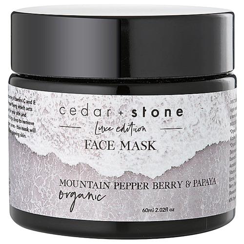 Cedar + Stone Pepper Berry & Papaya Face Mask