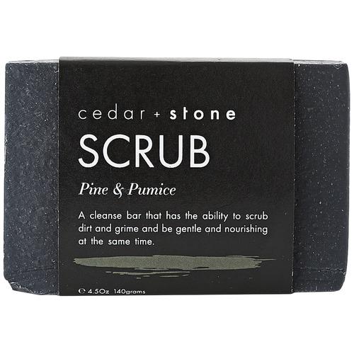 Cedar + Stone Pine & Pumice Body Scrub Bar