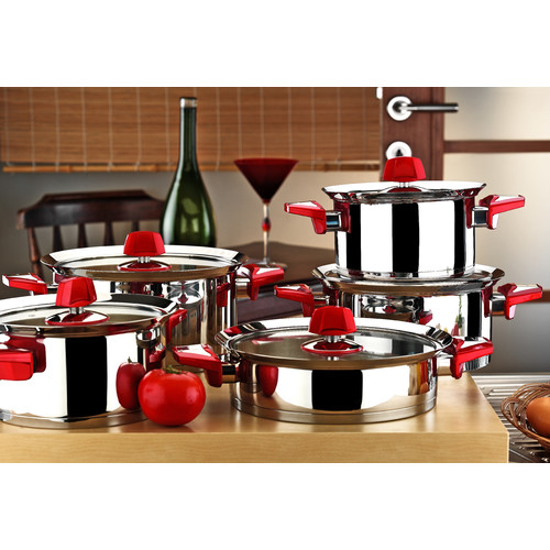 Kitchen & Co Kitchenware Flamingo Cookware Set