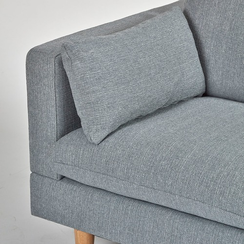 Latitude By Oneworld Light Grey Tia 2 Seater Sofa with Right Chaise
