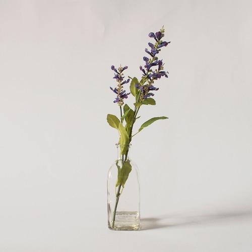 Bella Casa Faux Salvia in Glass Bottle