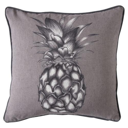 Bella Casa Lance Monochrome Pineapple Linen Cushion