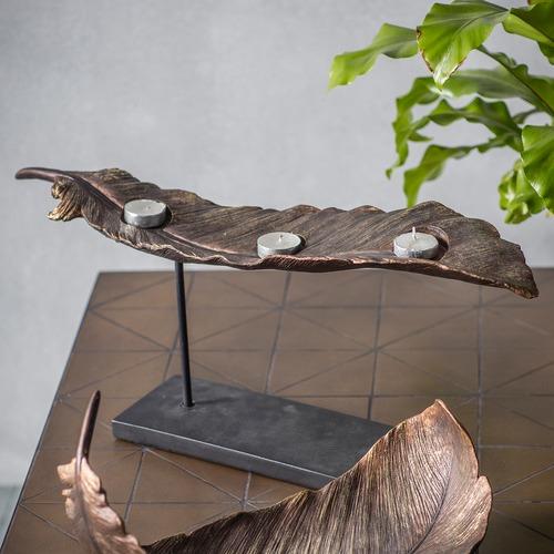 Bella Casa Kory Elevated Leaf Tealight Holder