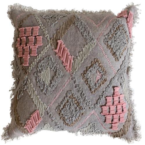 Bella Casa Farha Embroidered Cotton Cushion