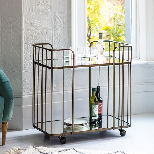 Bella Casa Vacey Bronze Drinks Trolley