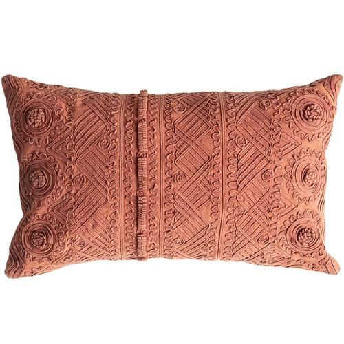 Bella Casa Burnt Orange Pasco Stonewashed Cushion